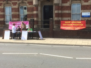 SLCH - protest No 2 outside CCG - signing the petition pic B