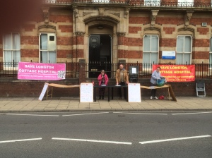 SLCH - Protest ouside Stoke CCG July 2105